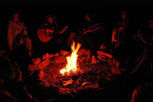 singing around the fire